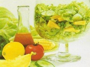 Žaliosios salotos su melionu