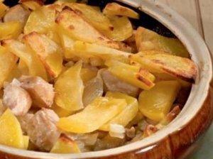 Bulvių ir žuvies užkepėlė