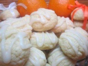 Varškės ir apelsinų sausainiai