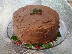 Šokoladinis tortas su mėtomis
