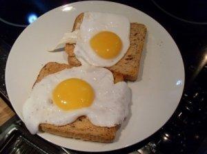 Skrebutis su kiaušiniu