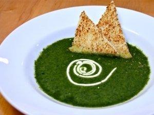 Kreminė špinatų sriuba