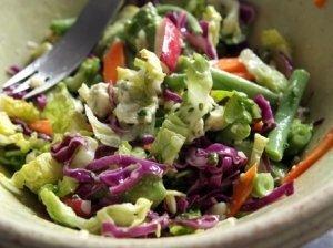 Kapotų daržovių salotos