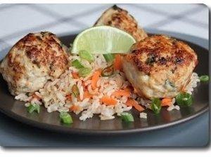 Kalakutienos maltinukai su ryžiais