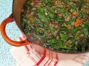 Lęšių ir špinatų sriuba
