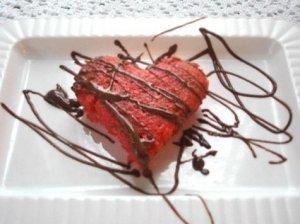 Širdelė su šokoladu