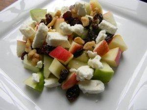 Obuolių ir fetos sūrio salotos