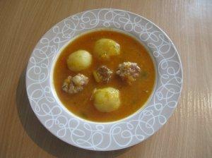 Tiršta sriuba su kalakutienos faršu