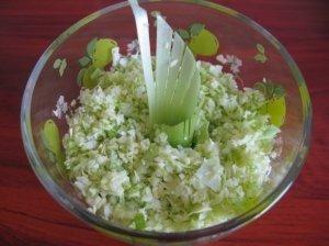 Kopūstų - porų salotos