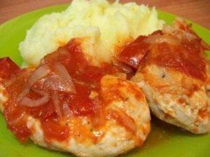 Vištiena su pomidorais