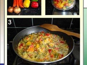 Paprikų ir brokolių garnyras