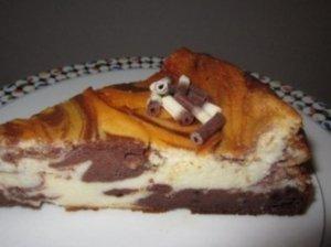 """""""Dėmėtasis"""" varškės pyragas"""