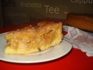 "Vokiškas obuolių pyragas ""gedeckte apfel kuchen"""