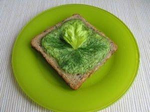 Kepti sumuštiniai su pavasarišku kremu