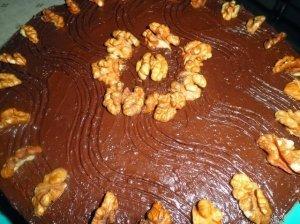 Šokoladinis tortas su morengu