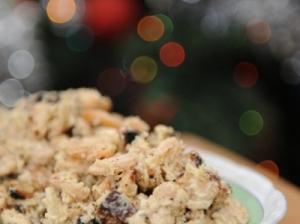 Mišrainė  su kepta duona Kalėdoms