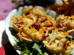 Pikantiški pyragėliai su daržovėmis