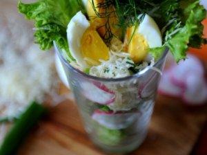 Gaivios salotos su kiaušiniu ir ridikėliais