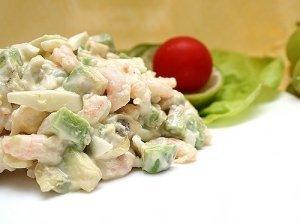 Skaniosios krevečių salotos