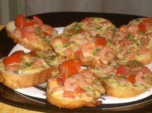 Kepti sumuštiniai su krevetėmis