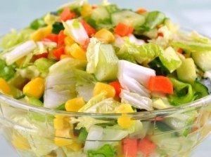 Gardžiosios daržovių salotos