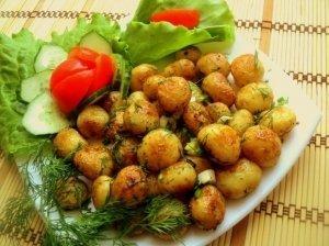 Kepintos bulvytės šventiniam stalui