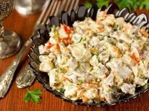 Baklažanų ir liežuvio  salotos