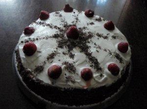 Šokoladinis tortas su grietine