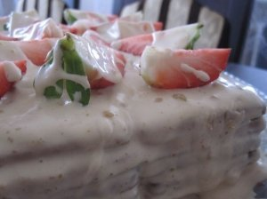 Nekeptas sausainių tortas su chalva