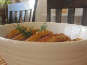 Varškėčiai su bulvėmis