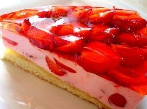 Braškinis jogurto tortas - pyragas