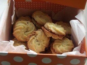 Citrininiai sausainiai su šokoladiniu pertepimu