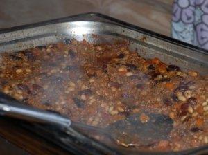 Pupelių troškinys su mėsa