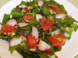 Salotos su greipfrutais