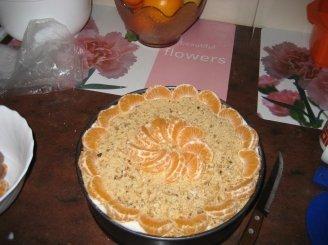 Pyragas su  varške ir sausainiais
