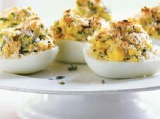 Kiaušiniai su tuno įdaru