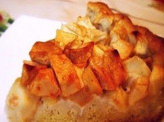 Pyragas su varške ir obuoliais
