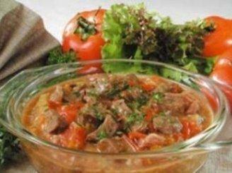 Vengriškas troškinys su ryžiais