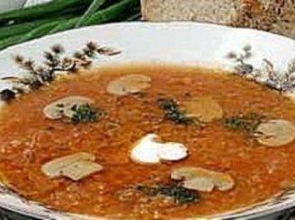 Raugintų kopūstų sriuba su grybais