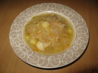 Šviežių - raugintų kopūstų sriuba