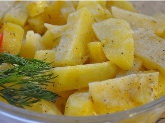 Bulvės su grietinės padažu
