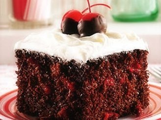 Vyšninis pyragas su šokoladu