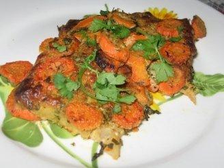 Žuvis su morkomis ir garstyčių padažu
