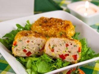 Vištienos kotletukai su paprika ir sūriu