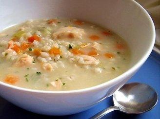 Perlinių kruopų sriuba su vištiena