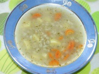 Paprasta perlinių kruopų sriuba