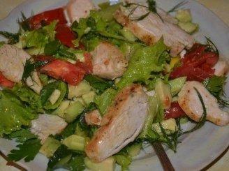 Vasariškos salotos su vištiena