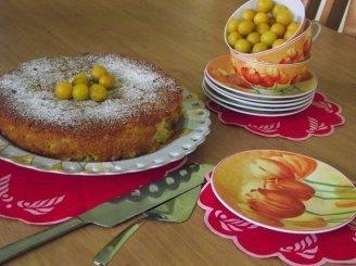 Geltonųjų slyvučių pyragas