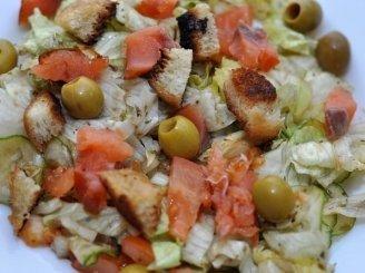 Salotos itališkai su lašiša
