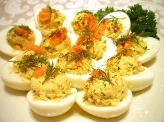 Kiaušiniai su lašiša